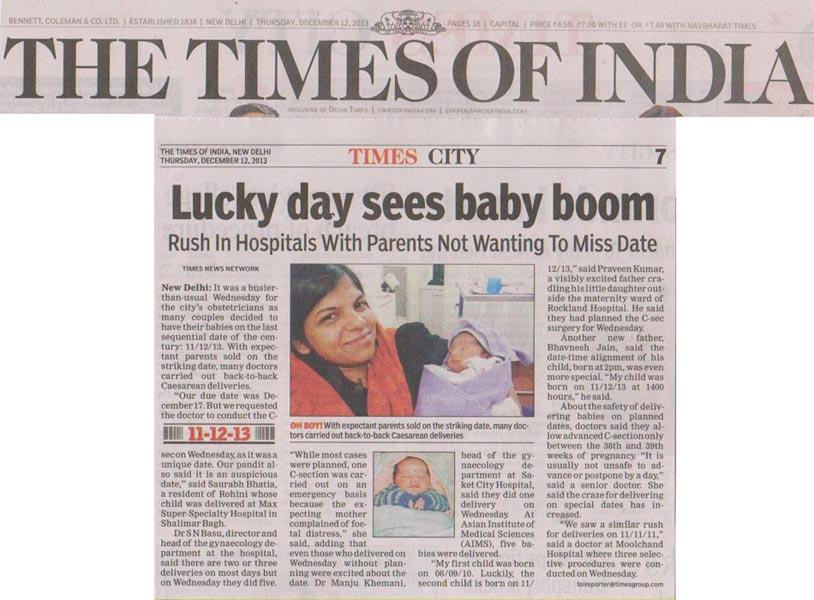 Babies delivered on 11.12.13