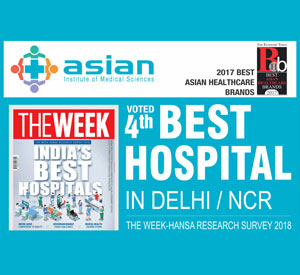 Asian Institute of Medical Sciences Voted as the 4<sup>th</sup> Best Hospital in Delhi/NCR