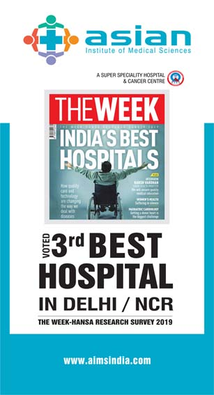 Voted as 3rd Best Hospital in Delhi NCR
