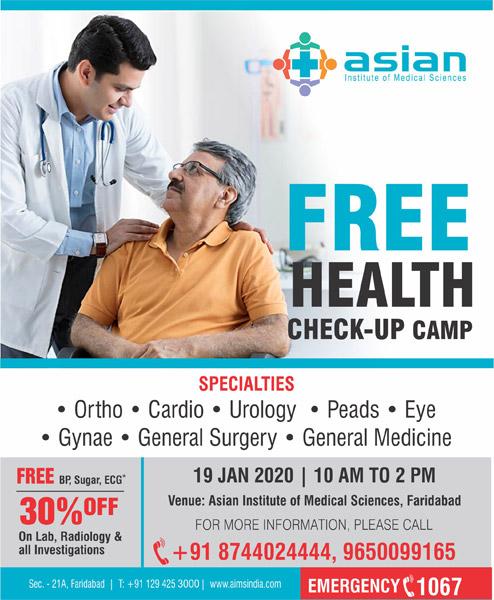 Free Health Check-up Camp