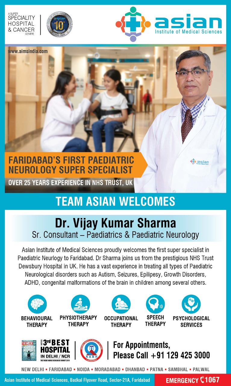Faridabad's First Paediatric Neurology Super Specialist